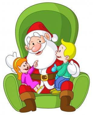 Santa with kids