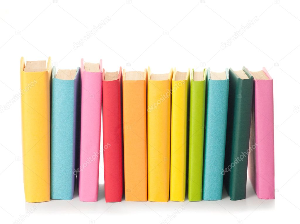 Stack of colorful books — Stock Photo © aboikis #6984753