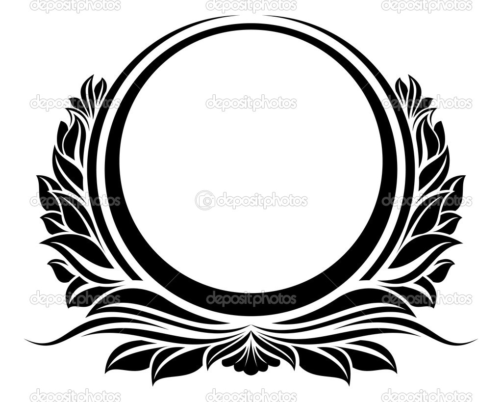 Black circle frame stock vector c zybr78 7810547 for Black circle vector
