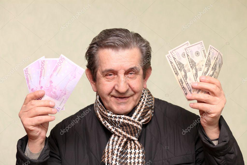 Поздравление с пачкой денег