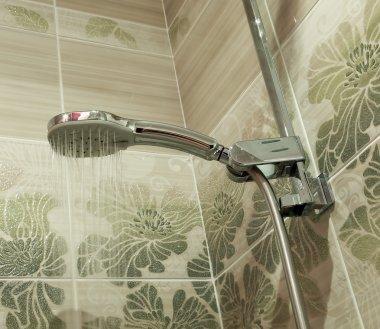 Water shower in bathroom