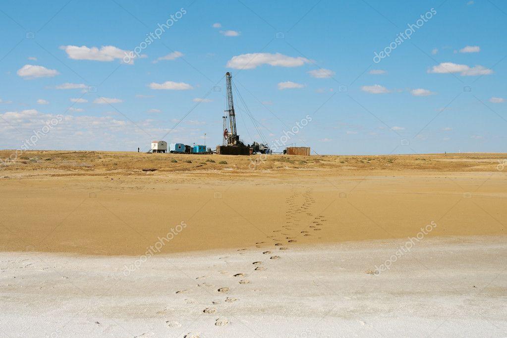 Drilling in the desert.