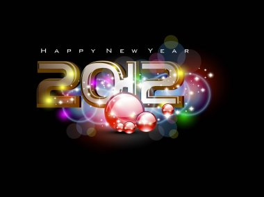 vector for 2012 happy new year event
