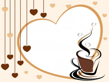 vector invite card for coffee
