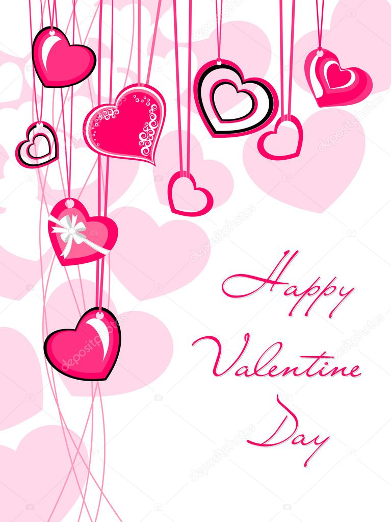 Love theme greeting card for valentine day — Stock Vector