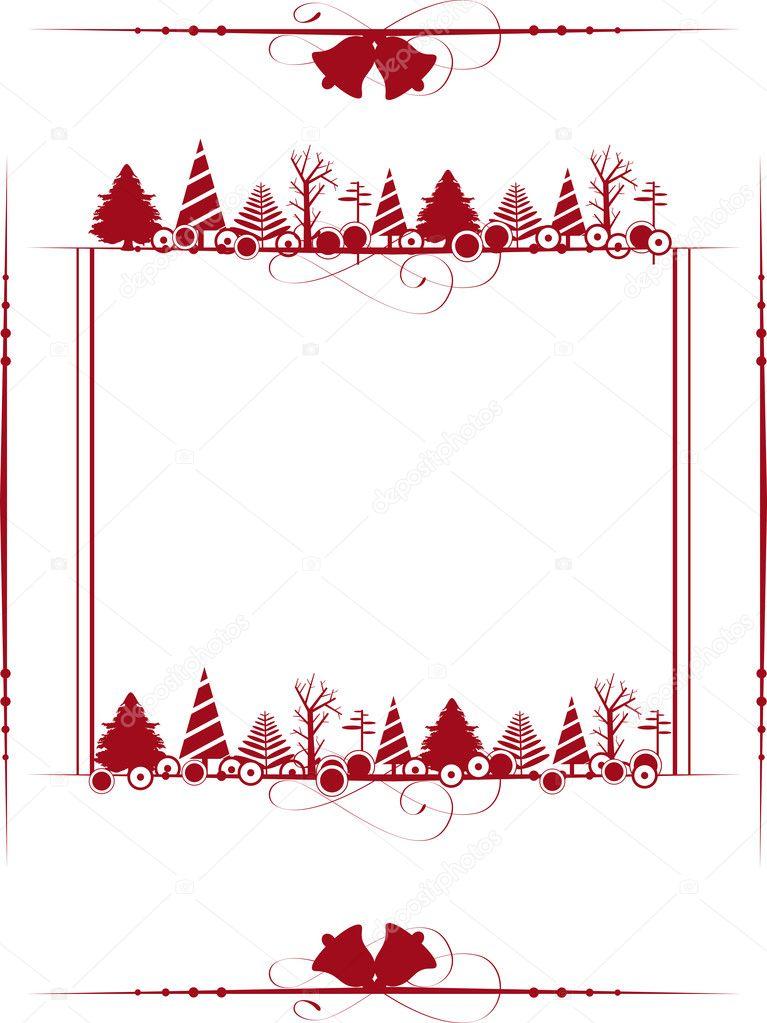marco de Navidad vintage con los adornos de Navidad. Vector III ...