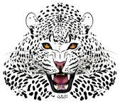 Fotografia leopardo vettoriale eseguita sotto forma di un tatuaggio