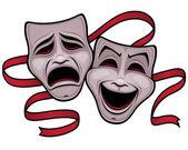 komedie a tragédie, divadelní masky