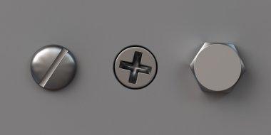 Three screw caps