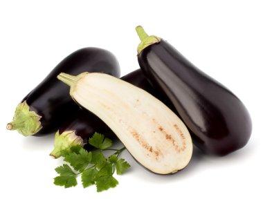 Eggplant or aubergine and parsley leaf