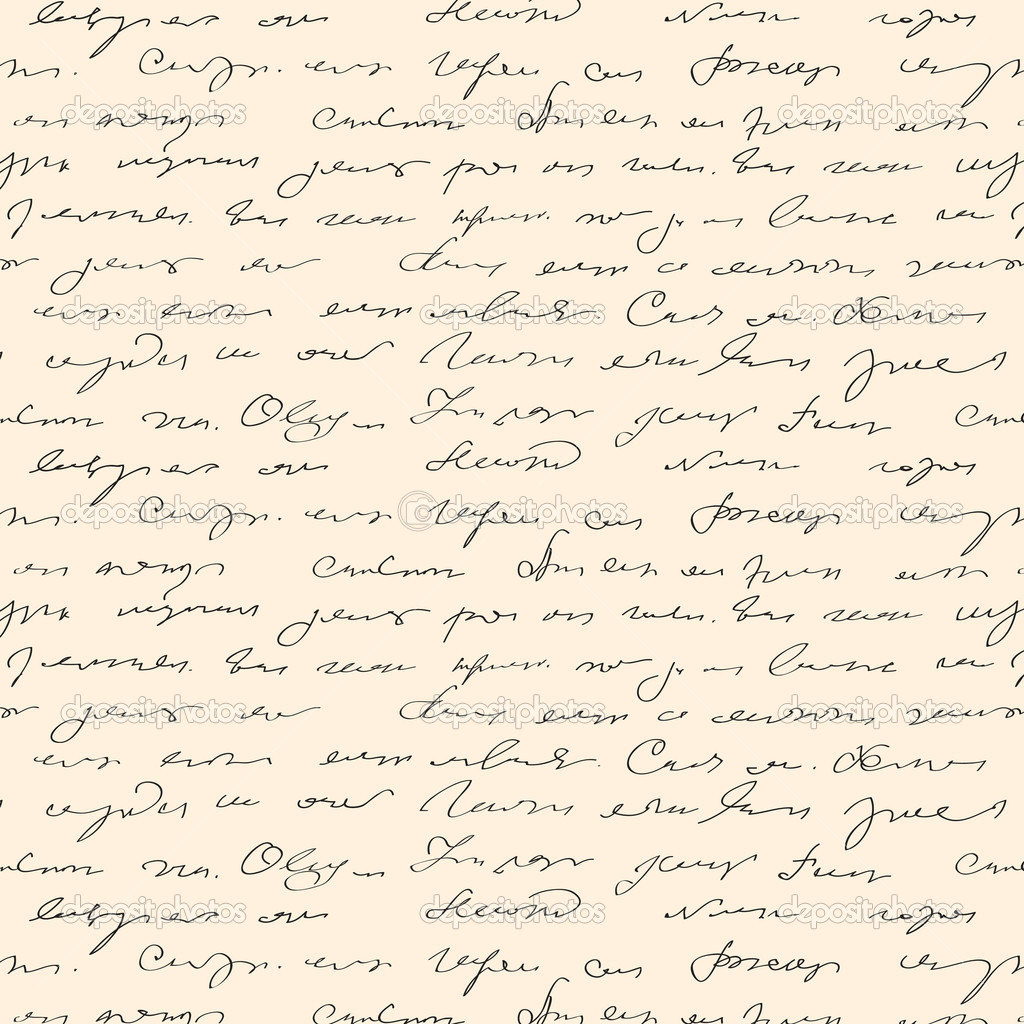 Seamless abstract handwritten text pattern