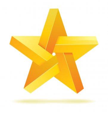 Unreal geometrical star vector