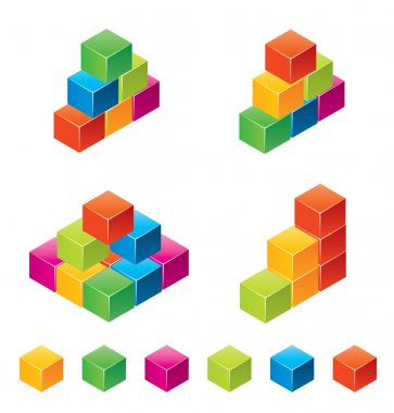 Vector colourful childrens blocks