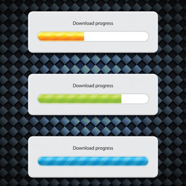 Preloader Progress Web Downloading Bar on carbon background clip art vector