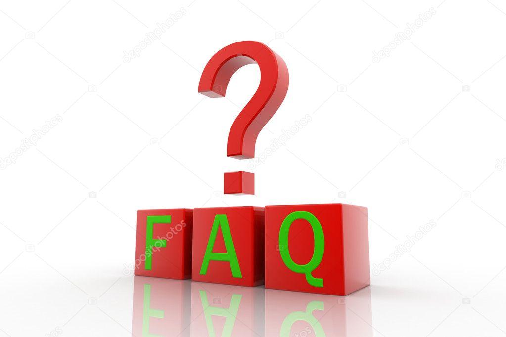 46780dad46244b Veelgestelde vragen-symbool geïsoleerd op witte achtergrond — Foto van ...