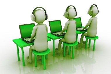 Man call center