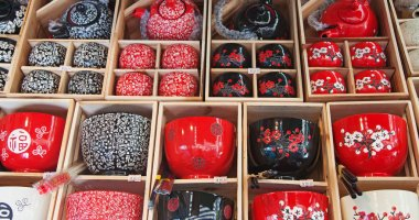 Traditional chinese tea pots and caps