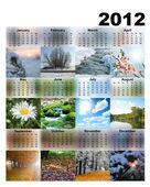 kalendář s fotografií sezón