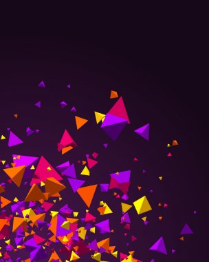 Fly colorful 3d pyramids
