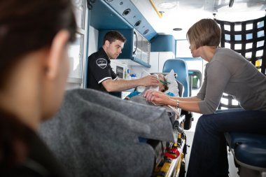 Senior Woman in Ambulance