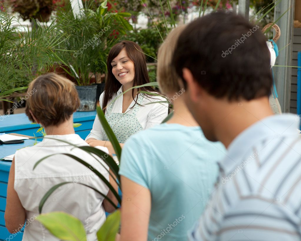 Customers in Garden Center