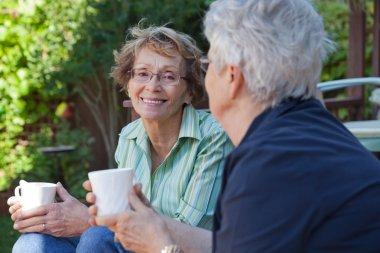 Senior Women with Warm Drinks