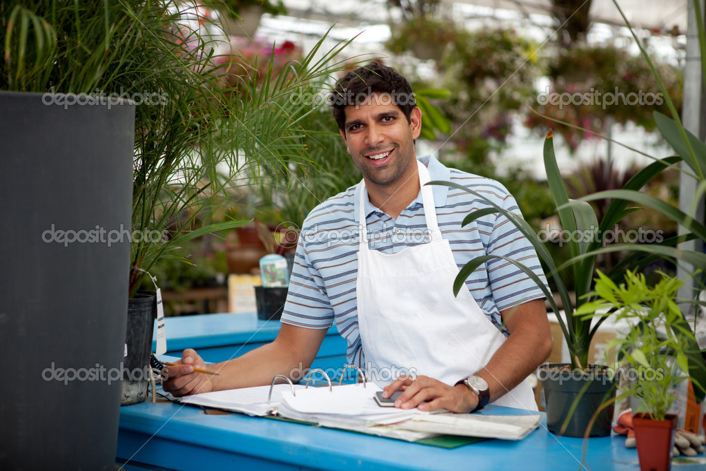 Young Male Garden Center Employee
