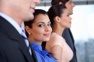 Smart Businesswoman Smiling