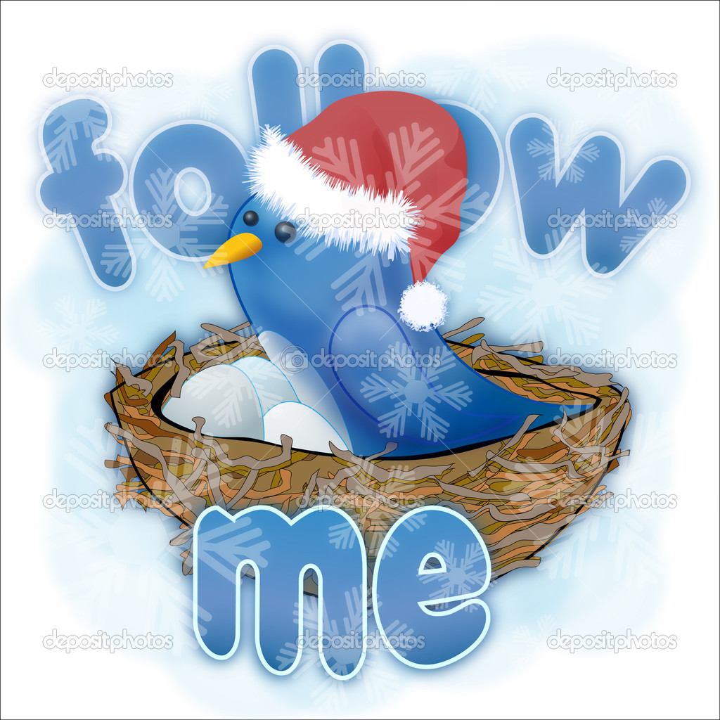 Twitter bird on а blue background