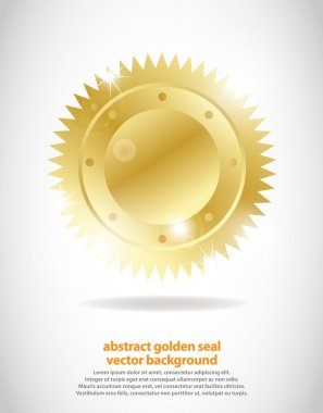 Abstract illustration of gold seal