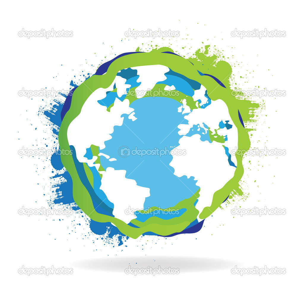 Abstract Grunge World Globe