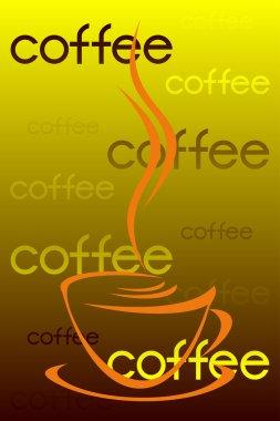 Coffee label.