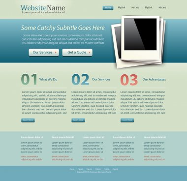 Website template vintage color theme stock vector