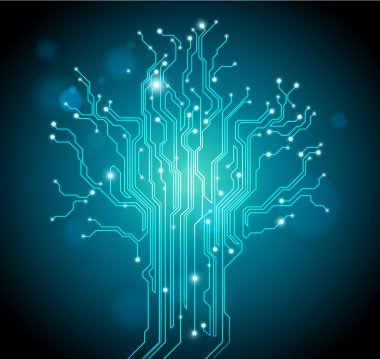 Abstract technology vector background