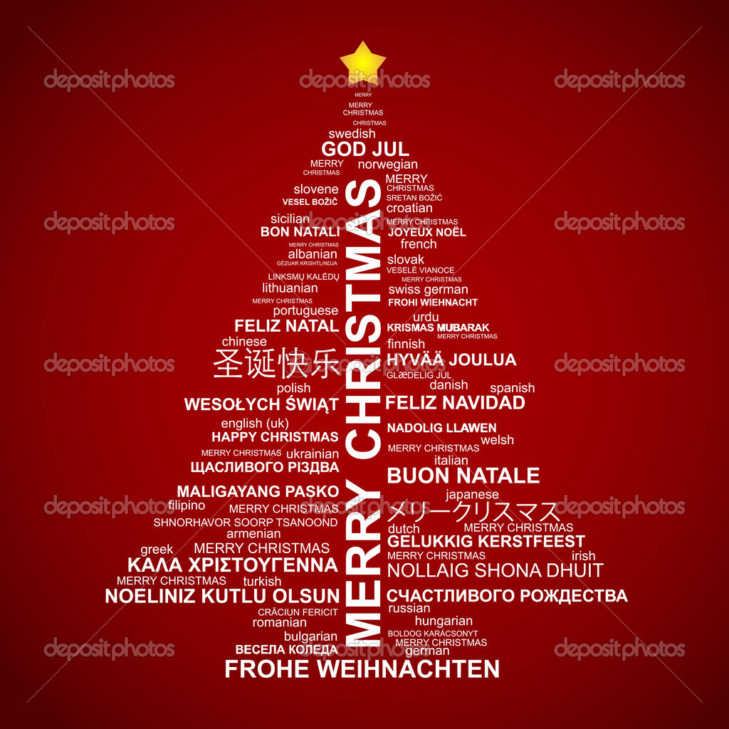 weihnachtsbaum shape aus buchstaben typografische. Black Bedroom Furniture Sets. Home Design Ideas
