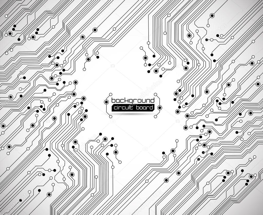 texture de fond de carte de circuit imprimé — Image vectorielle ...