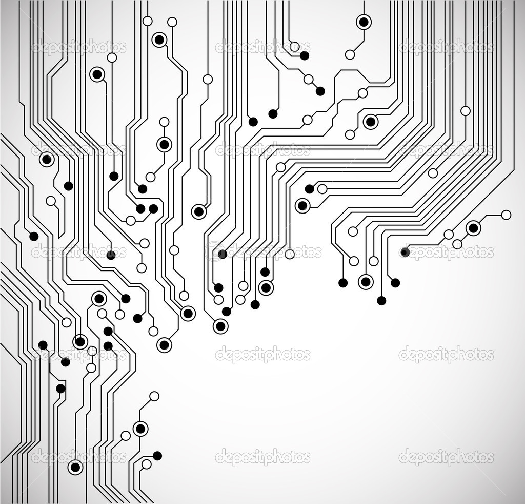 circuit board background texture - vector - isolated on white — vector by  silvertiger