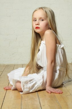Upset, sad, bored - young child girl, emotions
