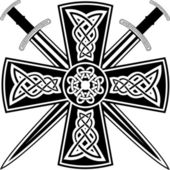 Photo Celtic cross and swords