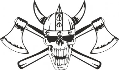 Skull and axes
