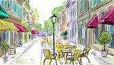 illusztráció a régi város