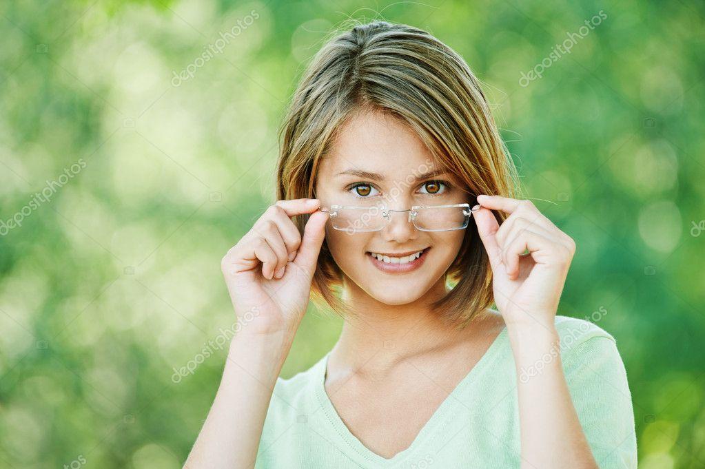 Attractive woman glasses