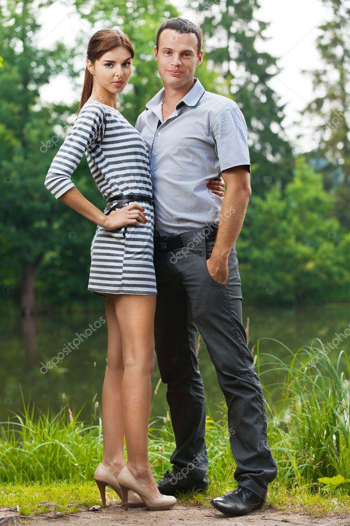 Portrait young couple love man woman