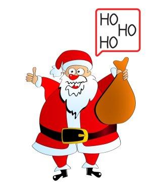 Santa Claus carrying sack