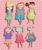 Photo Children, little girls set