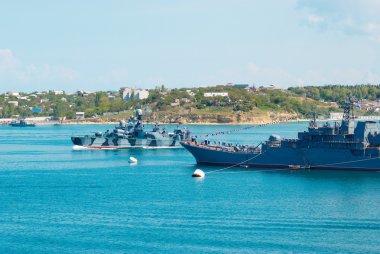 Russian warships.