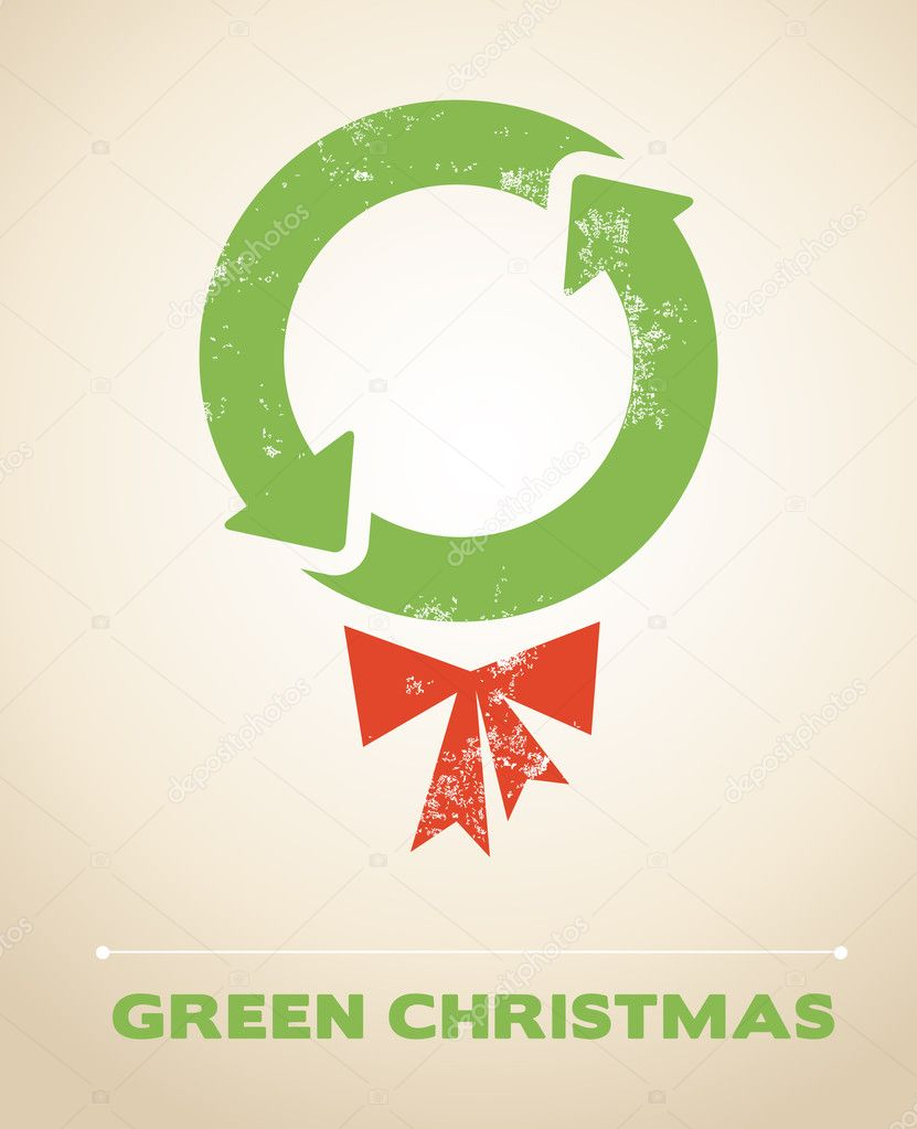 Ecology and recycling Christmas vector background