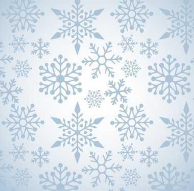 Christmas background with snowflakes pattern, vector clip art vector