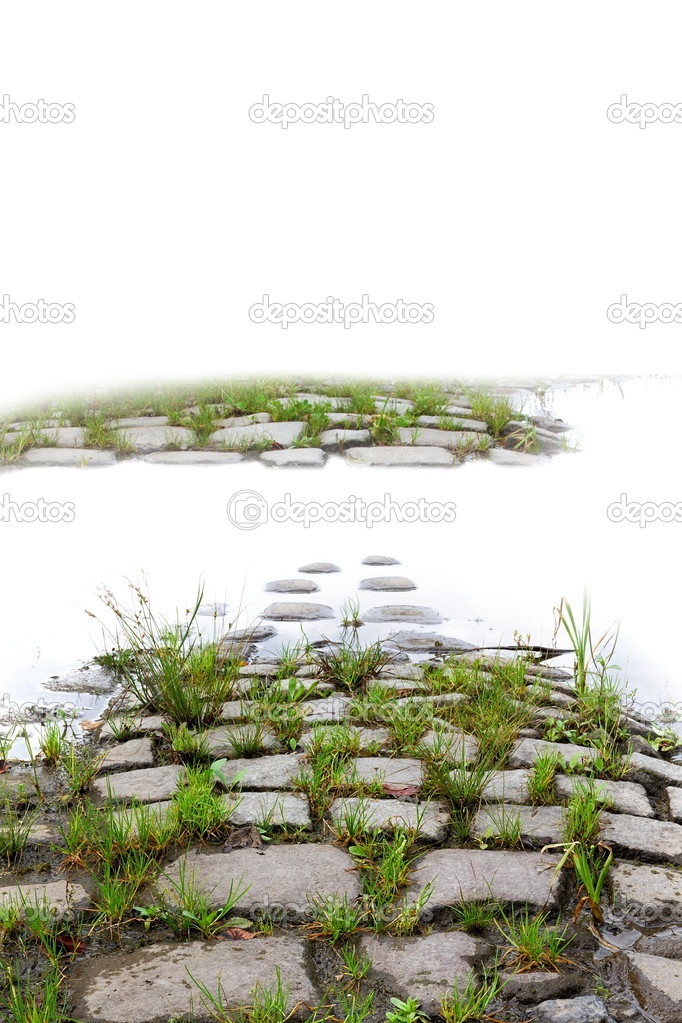 Old cobblestones road