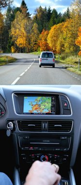 Travel by car with gps system
